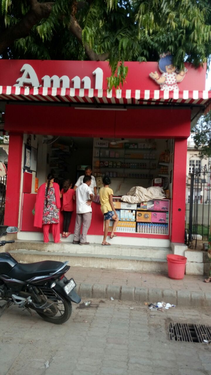Amul Parlour at Khanderao Market Building before VMSS building vadodara. It is inacessible for Divyang