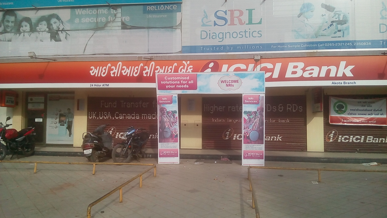 ICICI Akota branch without Ramp and Special Parking eventhough suffient space.